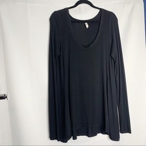 Free people oversized long sleeve blouse L